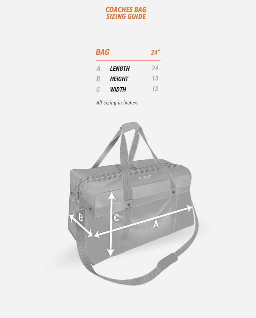 Coaches Bag Sizing Guide
