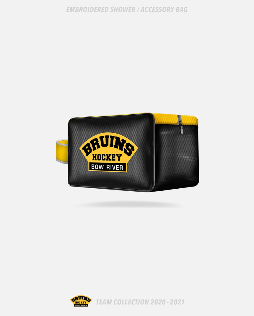 Bow River Bruins Embroidered Shower/Accessory Bag - Bow River Bruins Team Collection 2020-2021