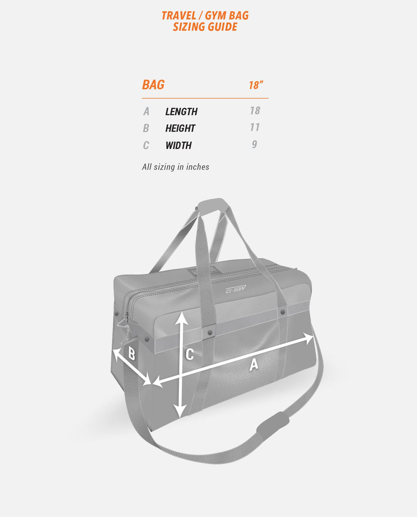 Travel/Gym Bag Sizing Guide