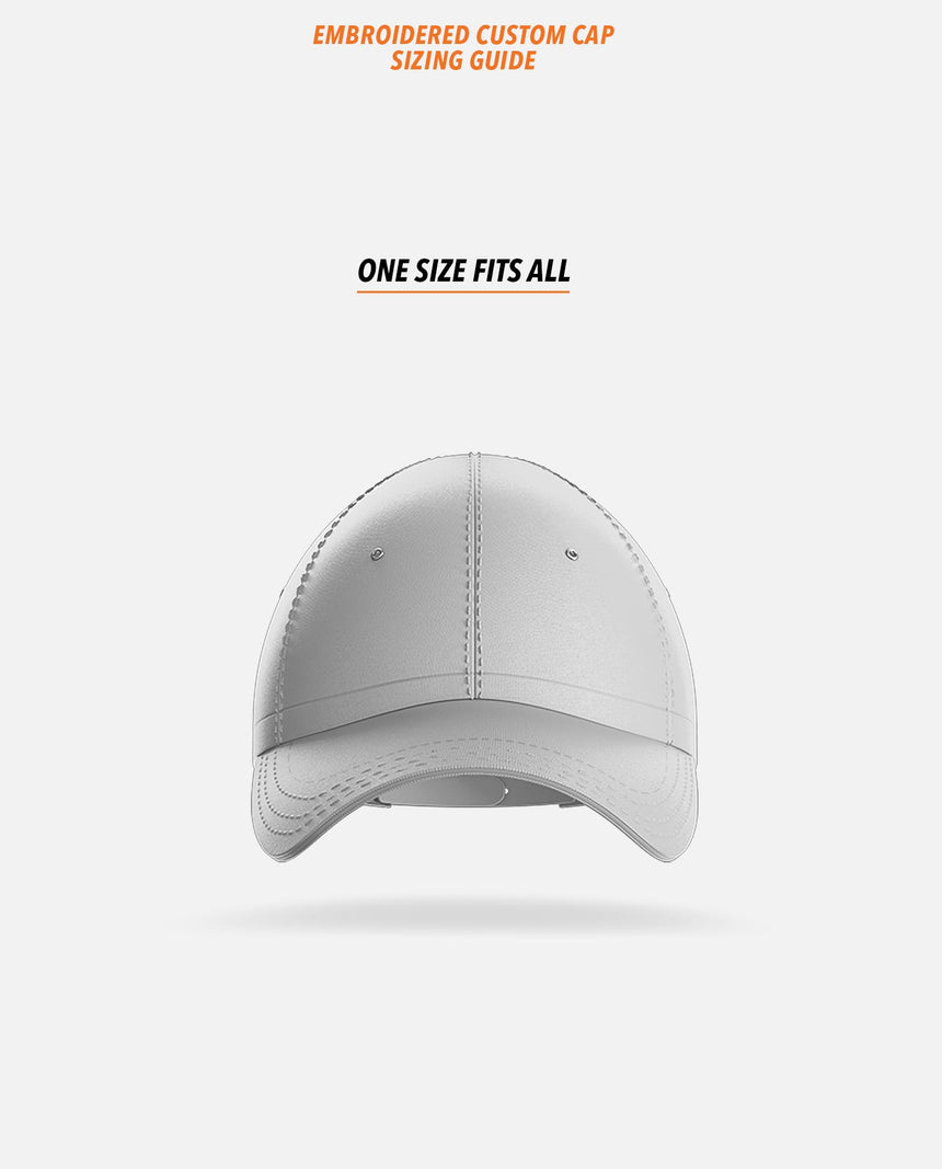 Embroidered Custom Cap Sizing Guide