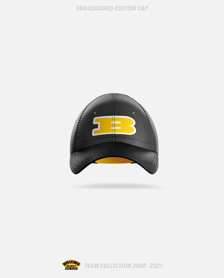 Bow River Bruins Embroidered Custom Cap - Bow River Bruins Team Collection 2020-2021