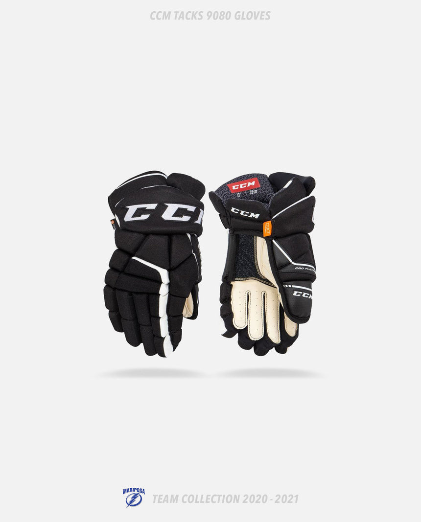 Mariposa Lightning CCM Tacks 9080 Gloves - GSW Team Collection 2020-2021