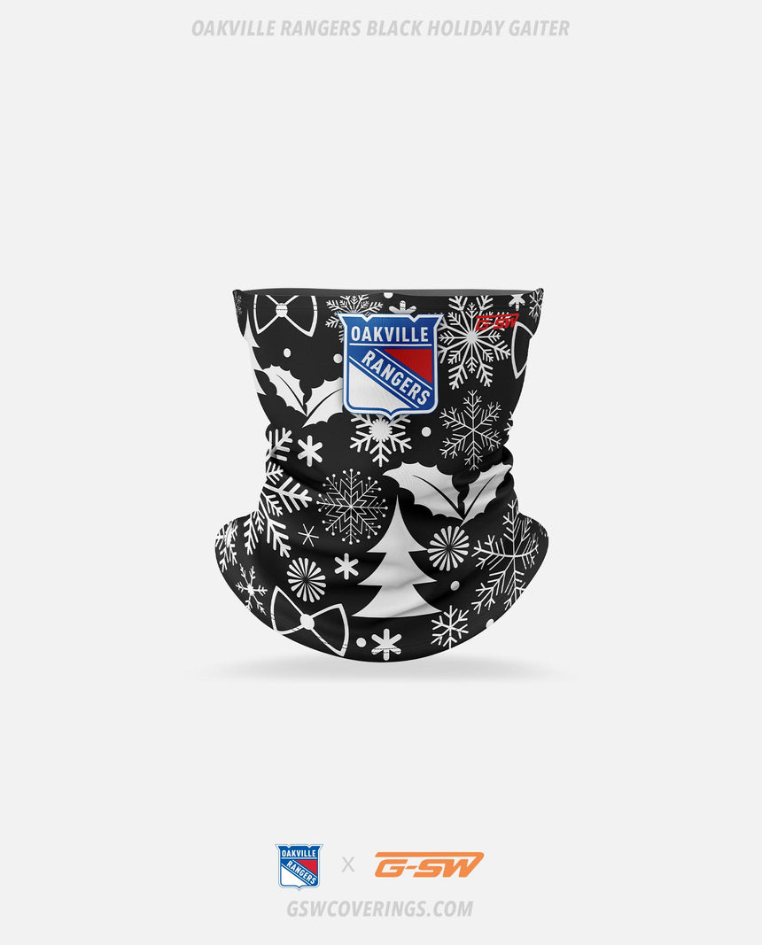 Oakville Rangers Black Holiday Neck Gaiter - GSW Team Collection 2020-2021