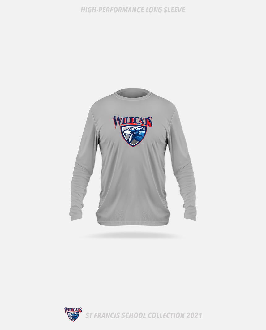 St. Francis Wildcats High-Performance Long Sleeve - GSW Team Collection 2020-2021