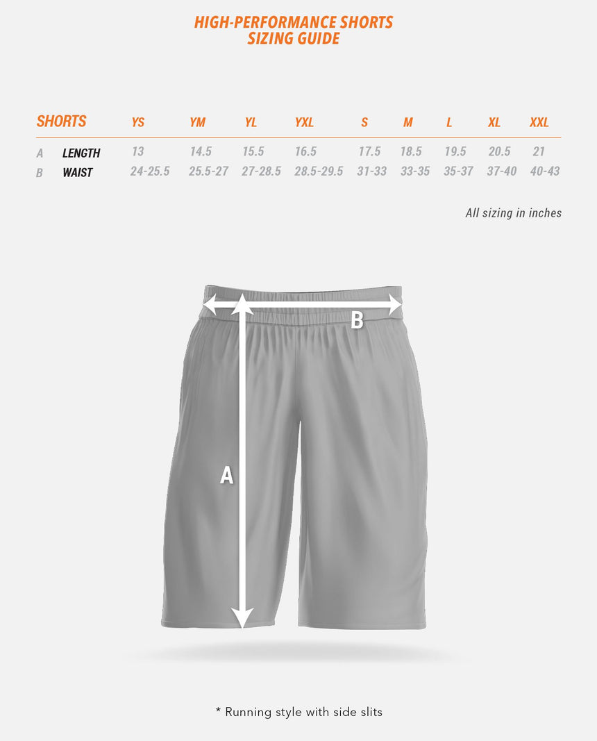 High-Performance Shorts Sizing Guide