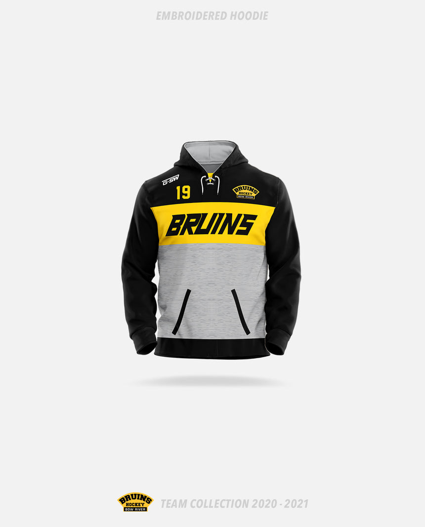 Bow River Bruins Embroidered Hoodie - Bow River Bruins Team Collection 2020-2021