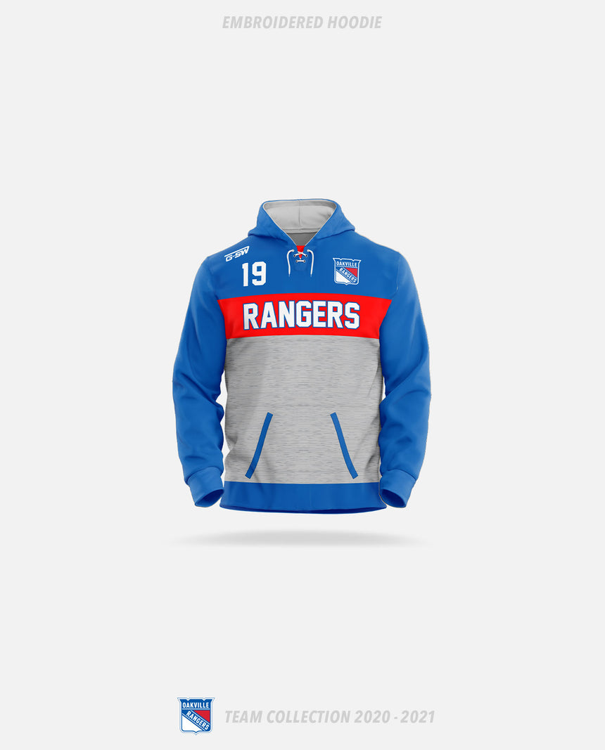 Oakville Rangers Embroidered Hoodie - Oakville Rangers Team Collection 2020-2021