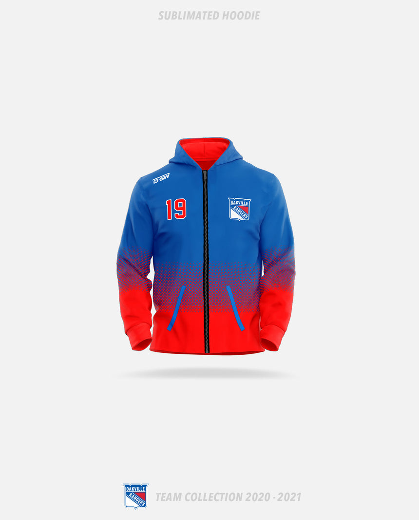 Oakville Rangers Sublimated Hoodie - Oakville Rangers Team Collection 2020-2021