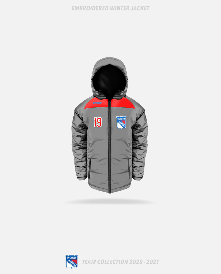 Oakville Rangers Embroidered Winter Jacket - Oakville Rangers Team Collection 2020-2021