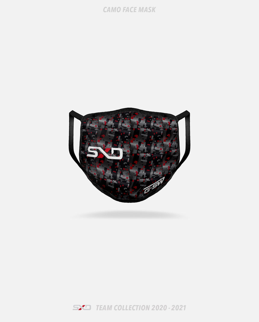 Shattered Dreams Esports Camo Face Mask - GSW Team Collection 2020-2021