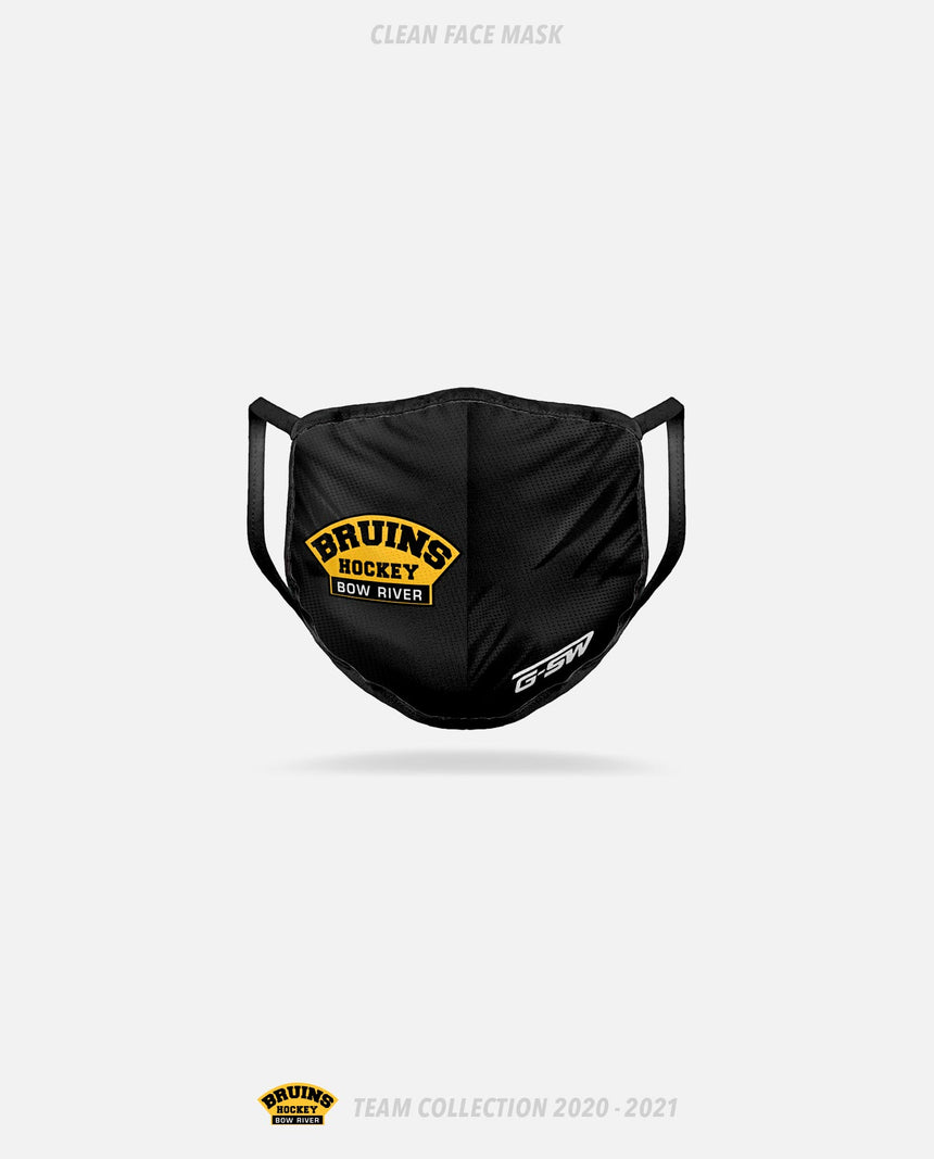 Bow River Bruins Clean Face Mask - Bow River Bruins Team Collection 2020-2021
