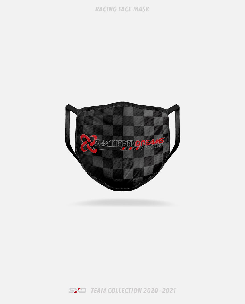 Shattered Dreams Esports Racing Face Mask - GSW Team Collection 2020-2021