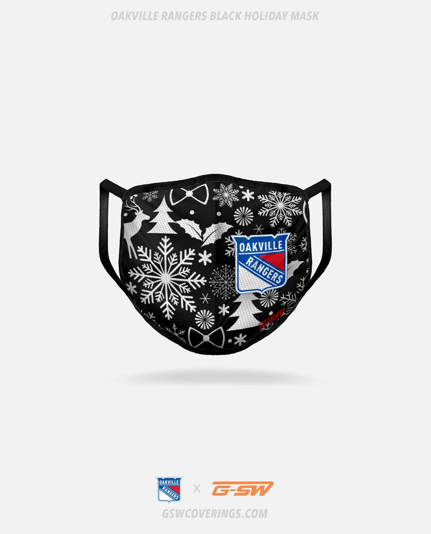 Oakville Rangers Black Holiday Face Mask - GSW Team Collection 2020-2021