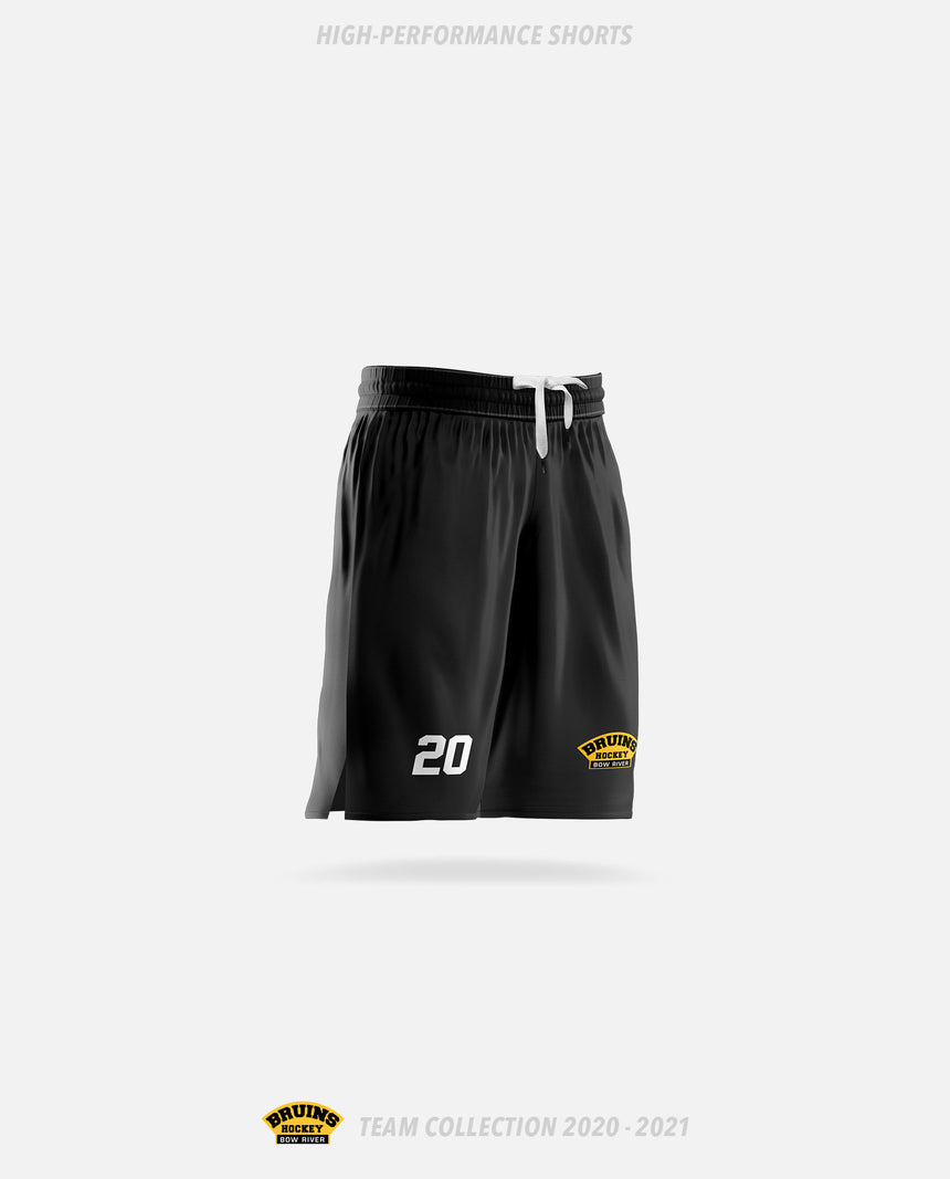 Bow River Bruins High-Performance Shorts - Bow River Bruins Team Collection 2020-2021