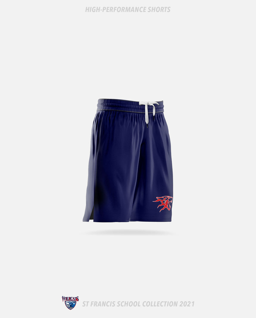 St. Francis Wildcats High-Performance Shorts - GSW Team Collection 2020-2021