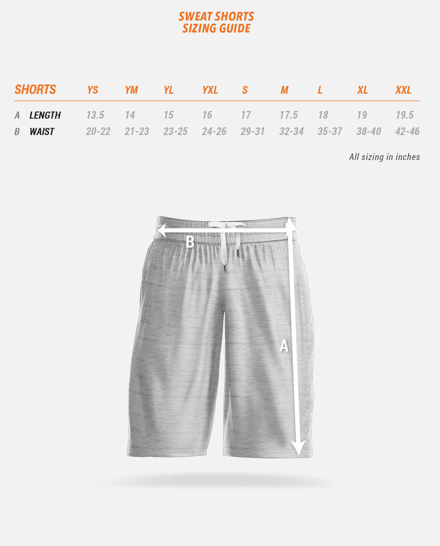 Sweat Shorts Sizing Guide