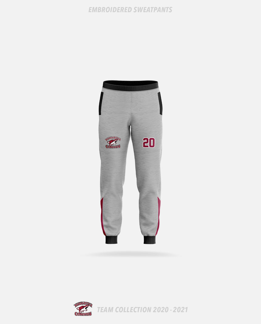 Kawartha Coyotes Embroidered Sweatpants - GSW Team Collection 2020-2021