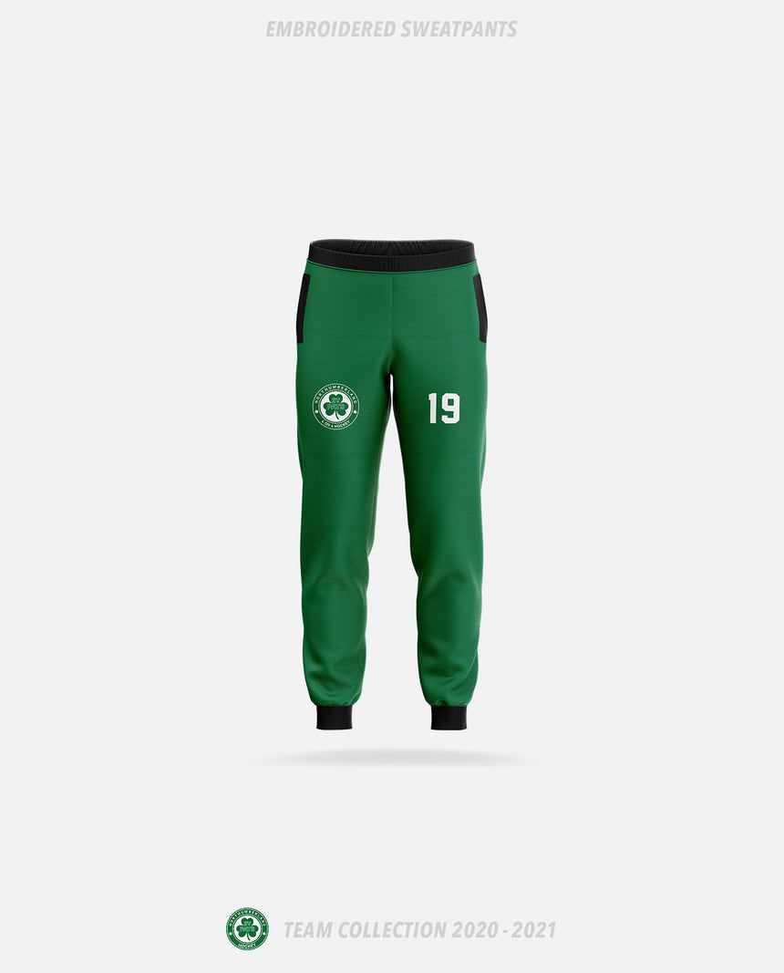 Northumberland St Pats Embroidered Sweatpants - GSW Team Collection 2020-2021