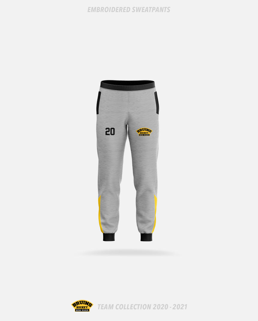 Bow River Bruins Embroidered Sweatpants - Bow River Bruins Team Collection 2020-2021