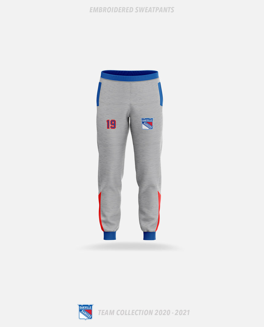 Oakville Rangers Embroidered Sweatpants - Oakville Rangers Team Collection 2020-2021