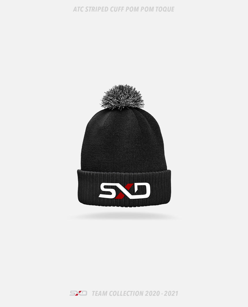 Shattered Dreams Esports ATC Striped Cuff Pom Pom Toque - GSW Team Collection 2020-2021