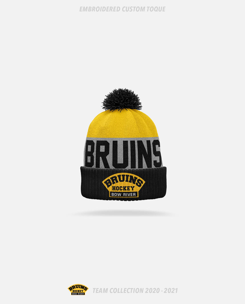 Bow River Bruins Embroidered Custom Toque - Bow River Bruins Team Collection 2020-2021
