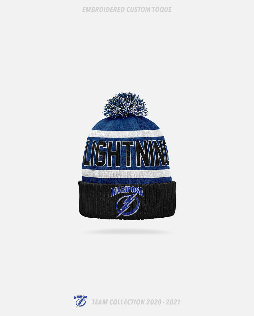 Mariposa Lightning Embroidered Custom Toque - GSW Team Collection 2020-2021