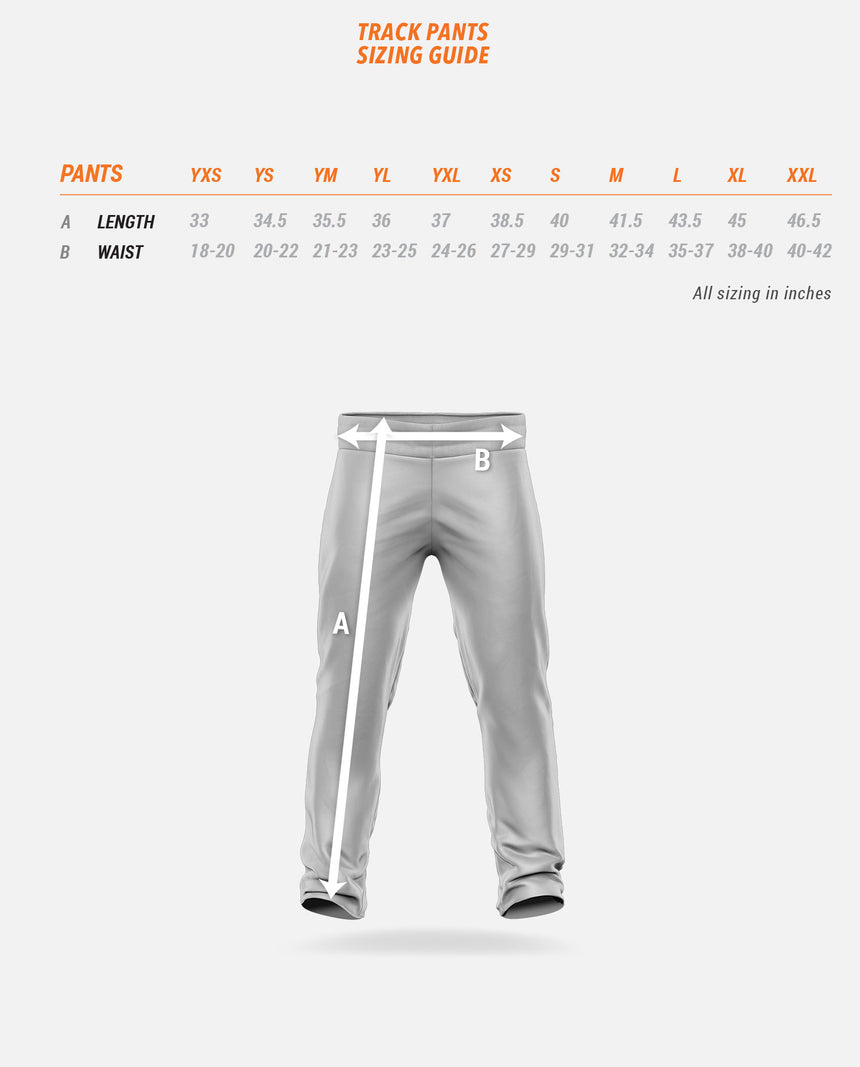 Track Pants Sizing Guide