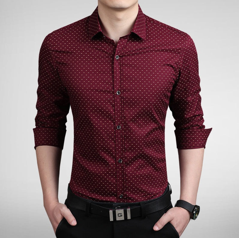 Contemporary Luxe Etiquette Dress Shirt