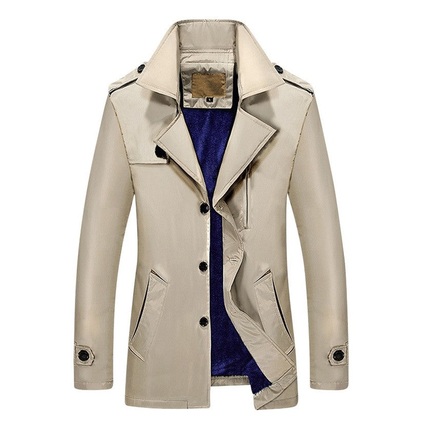 Plush Royale Winter Trench Coat