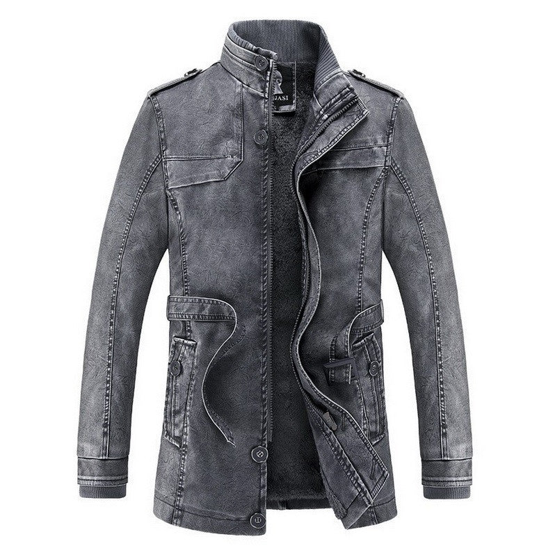 Juxtapose Urban Utility Leather Jacket
