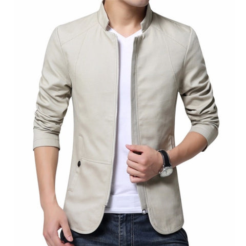 Contemporary Accented Light Patterned Jacket