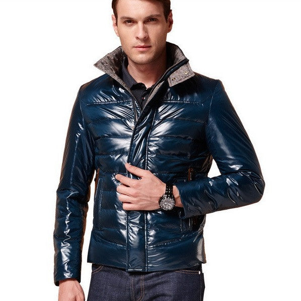 Luxe Contemporary Goose-Down Winter Jacket