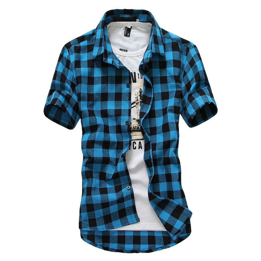 New-Age Coral Bay Checkered Shirt