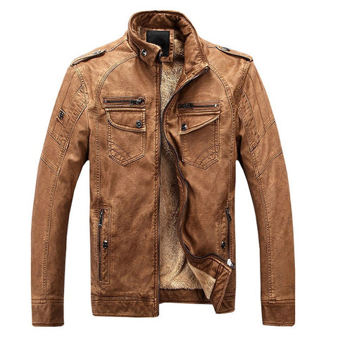Contemporary Luxe Winter Leather Jacket