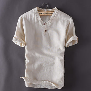 Open image in slideshow, Contemporary New-Age Summer Linen Shirt
