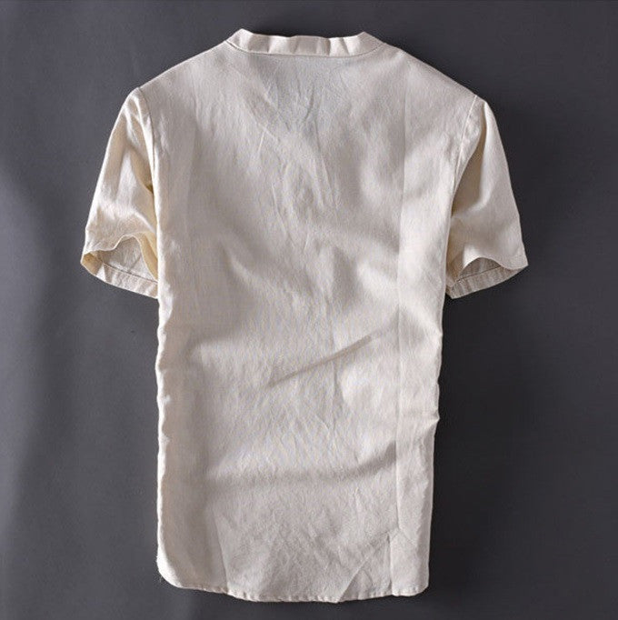 Contemporary New-Age Summer Linen Shirt