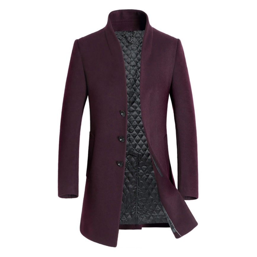 Contemporary Jacquard Luxe Woollen Coat