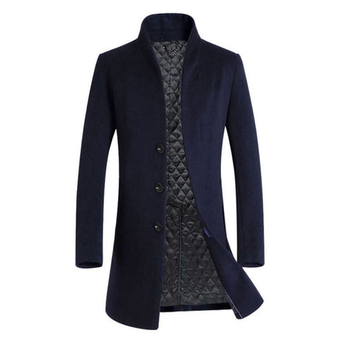 Contemporary Jacquard Luxe Woolen Coat