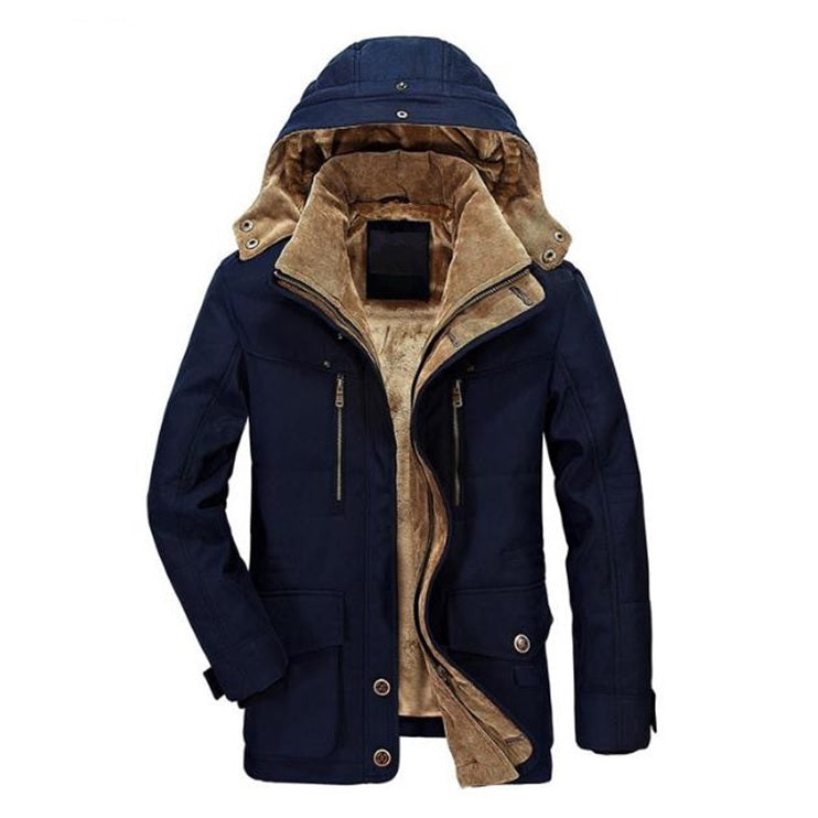 Premium Fur-Lined Hooded Parka Jacket