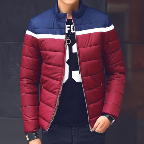 Contemporary Jacquard-Lined Padded Fleece Jacket