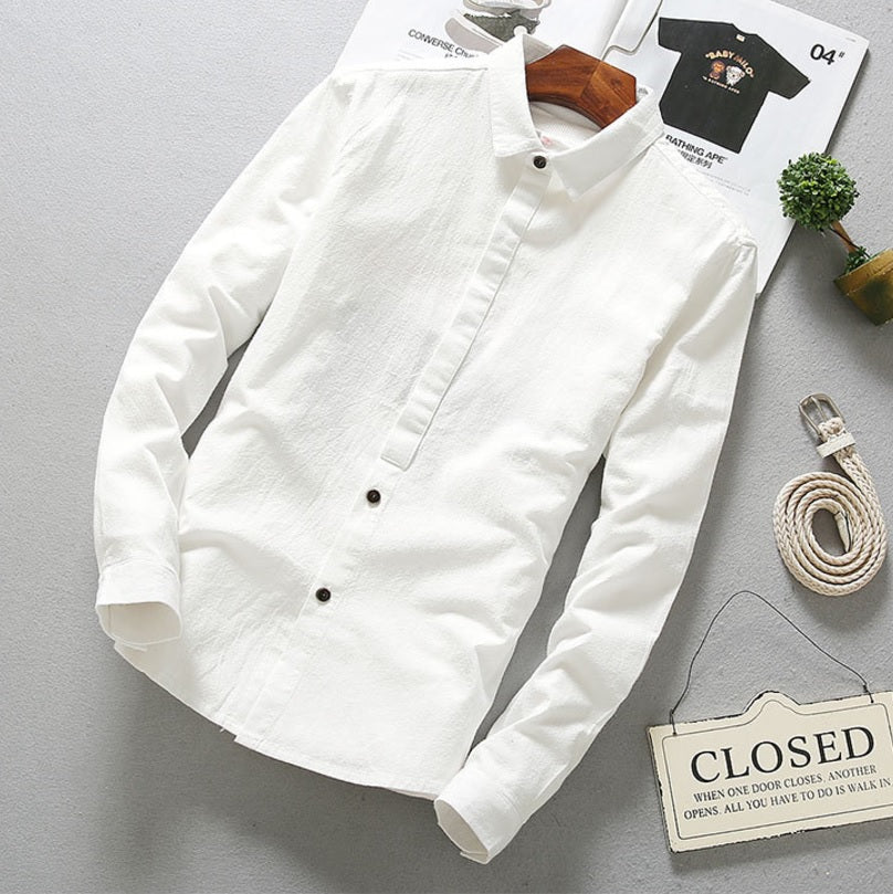 Contemporary New-Age Fall Linen Shirt