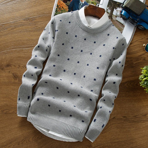 Contemporary Cubic Dotted Casual Sweater