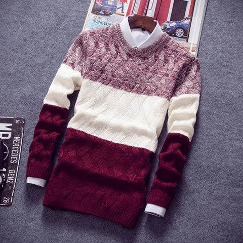 Contemporary Luxe Inter-Knitted Sweater