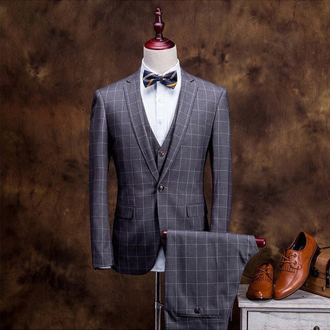 Contemporary Plaid Custom-fit Suit Set