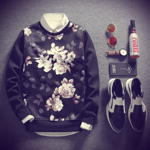 Contemporary Cedar Floral Sweatshirt