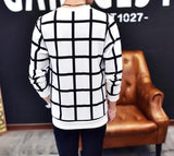 Contemporary Quadrilateral Casual Sweatshirt