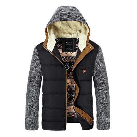 Urban Contrast Hooded Parka Jacket
