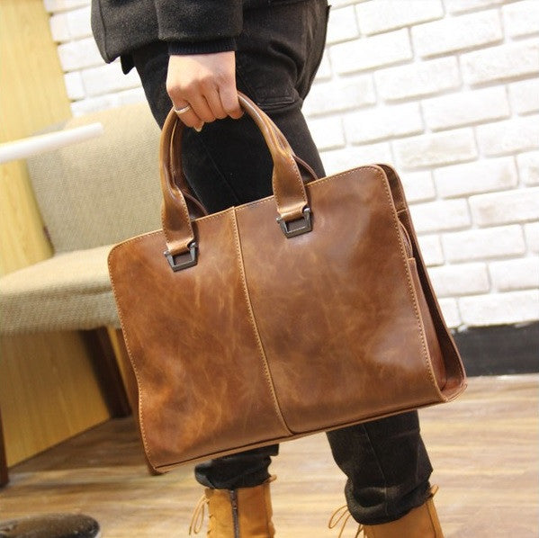 Contemporary Parquar Standard Leather Briefcase