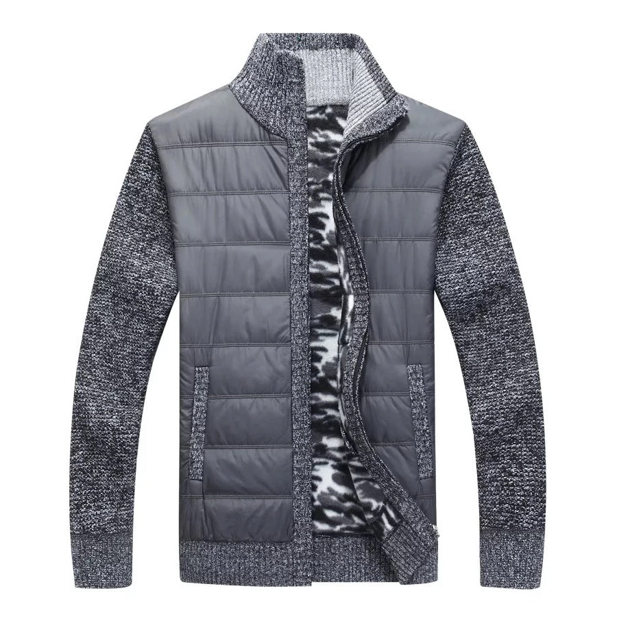 Contemporary Patched Casual Fall Jacket